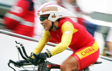图文-公路自行车世锦赛首日中国选手李梅芳名列第十