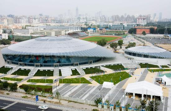 北京工业大学体育馆即将竣工 外观绚丽而独特图片