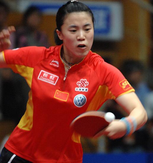 图文-女乒世界杯王楠进决赛王楠在比赛中回球