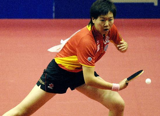 图文-乒乓球世界杯女团中国胜日本李晓霞险胜