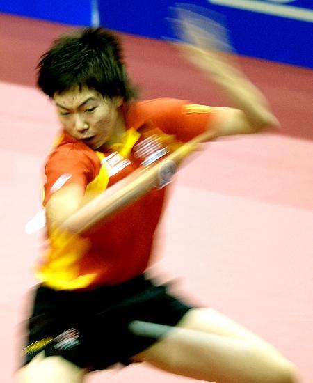 图文-乒球世界杯中国女团进入半决赛威猛李晓霞