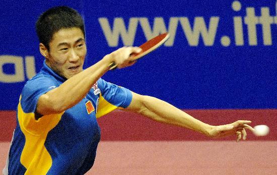 图文-乒乓球世界杯中国男队进决赛大力狠劲毕现