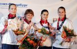 图文-击剑世锦赛冠军图集女佩团体俄罗斯第三