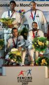 图文-击剑世锦赛冠军图集男子重剑团体法国夺冠