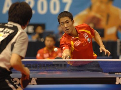 图文-乒乓世界杯王皓将战柳承敏王励勤状态不佳