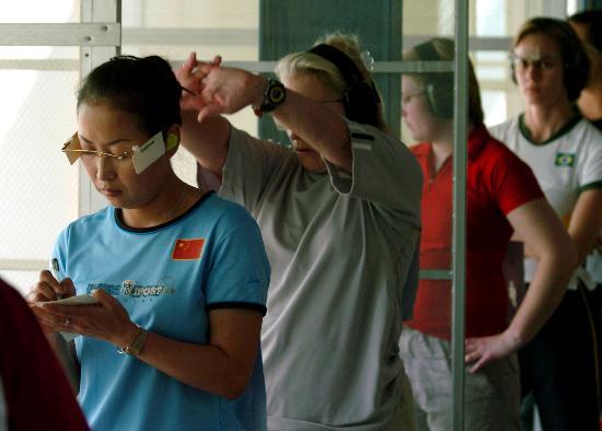 图文-世界军人运动会女子25米运动手枪中国队夺冠