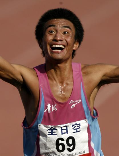 图文-北京国际马拉松赛战况任龙云喜获男子组亚军