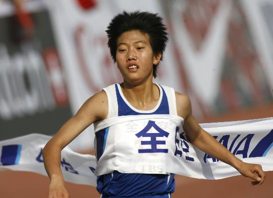 图文-北京国际马拉松赛战况陈荣夺得女子组冠军