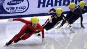 图文-短道速滑世界杯哈尔滨站3000米接力成员周洋