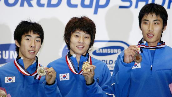 图文-短道速滑世界杯日本站 韩国包揽男1500米