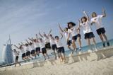 中国女子水球队在迪拜参赛