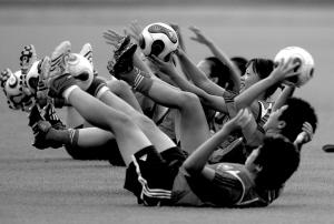 女足第二练状态不佳世界杯期间队员将享豪华待遇