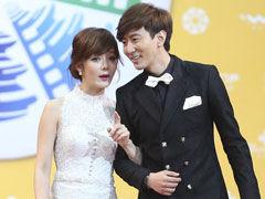 视频:韩星蔡琳与男友高梓淇首度现身