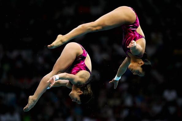 北京奥运会体育项目_图文-跳水女子双人10米台决赛 墨西哥选手比赛_游泳-跳水_2008奥运 ...