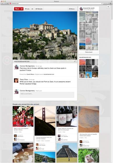 改版之后的具體視圖下,右側欄將會看到同一內容板上其他內容的預覽圖。頁面下方,將顯現該用戶還轉發了哪些內容。