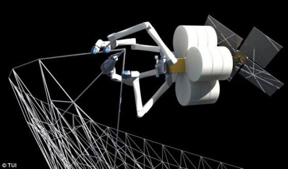 能电池板_美宇航局拟建太空工厂:3D打印大型航天部件 3D打印 宇航局 太空 ...