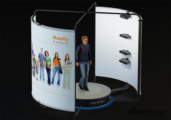 三维人体脏器扫描仪_Artec展示全球首台3D人体全身扫描仪 |3D打印机_硬件_新浪科技_新浪网