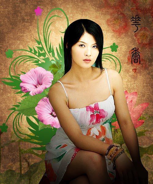 照片ps古典美女_Photoshop用素材组合古典美女照片_软件学园_科技时代_新浪网