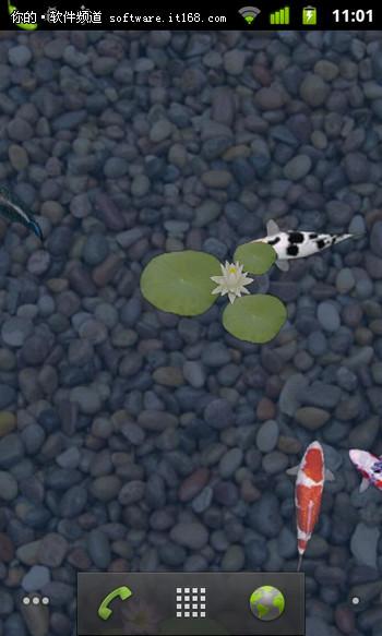 鱼塘里的鱼_高清截图 十二款3D动态壁纸私家珍藏版_软件学园_科技时代_新浪网