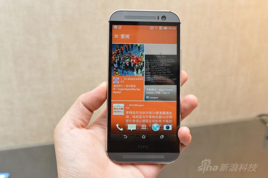 htc one外壳材质_金属拍照旗舰机 移动4G版HTC One M8上手体验 HTC One M8_手机_新浪科技 ...