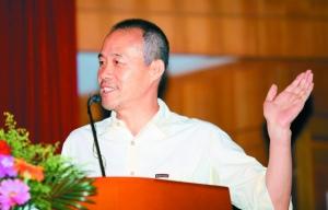 昨日下午,王石做客晶报名人演讲周。 晶报记者 成江/摄