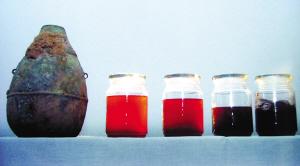 陕西白水战国墓青铜壶内发现酒(图)
