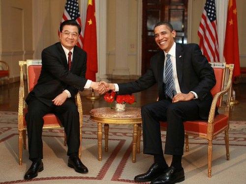 胡锦涛和奥巴马做首会晤(组图)