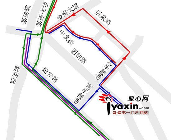 新疆乌鲁木齐市团结路6月3日起施工两天 5条公交线路暂时绕行