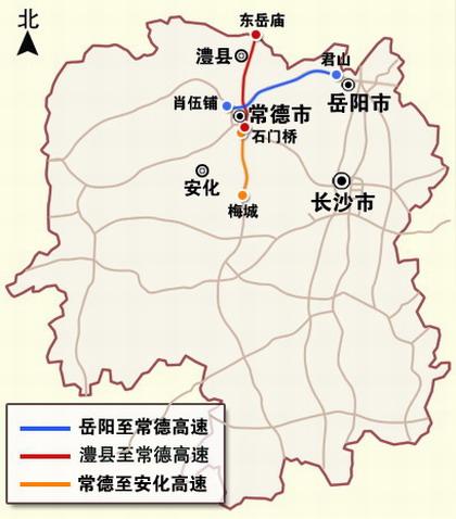 """岳(陽)常(德)高速是國家高速公路網中""""第十二橫線""""杭瑞高速公路的圖片"""