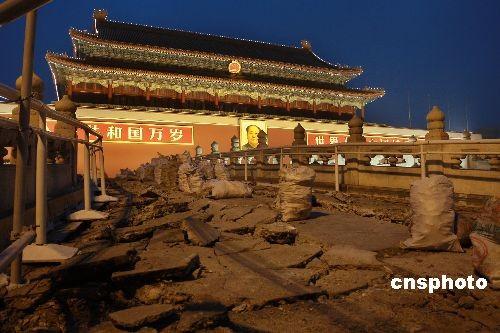 北京金水桥图片_图:北京天安门金水桥开始加固修缮_新闻中心_新浪网