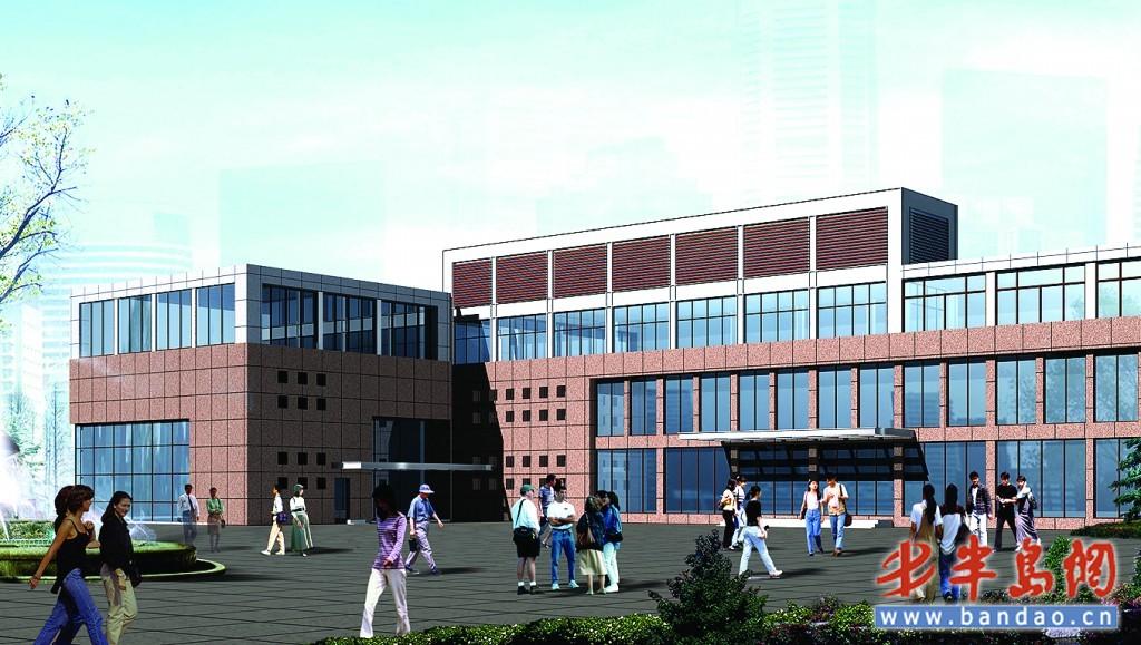 海伦路街道社区服务中心重建初步效果图.