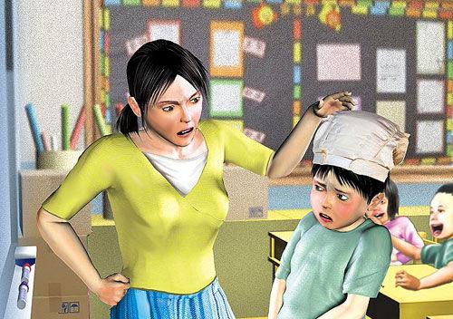 亚洲幼幼文学_4岁男童尿裤子遭尿布套头 台一恶老师涉公然羞辱
