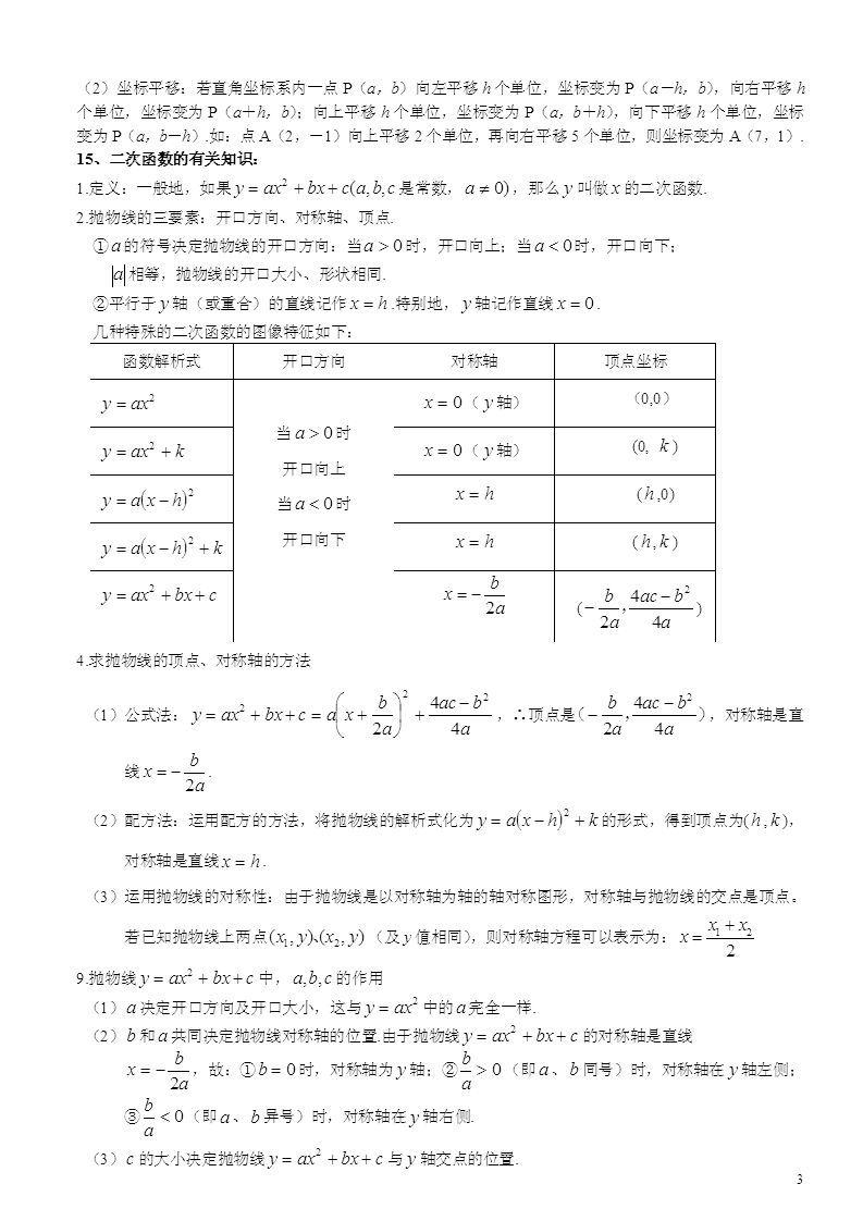 中考數學常用公式【相關詞_ 中考數學常用公式定理】圖片
