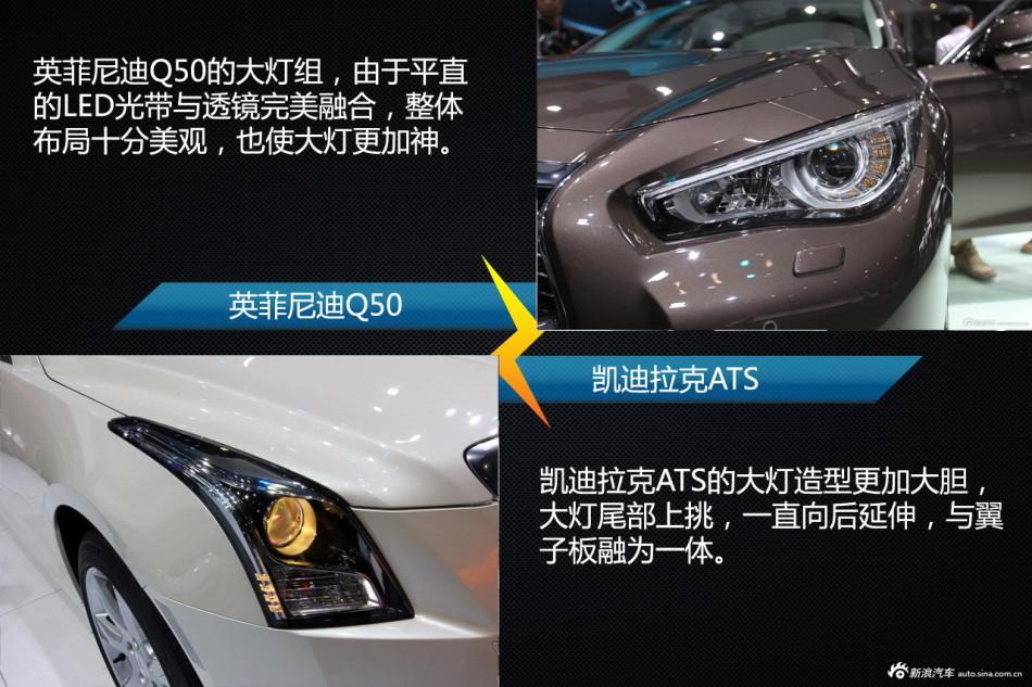 车型相对论 凯迪拉克ats对比英菲尼迪q50高清图片
