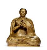 西藏12世紀 合金銅卓彌釋迦益希益師