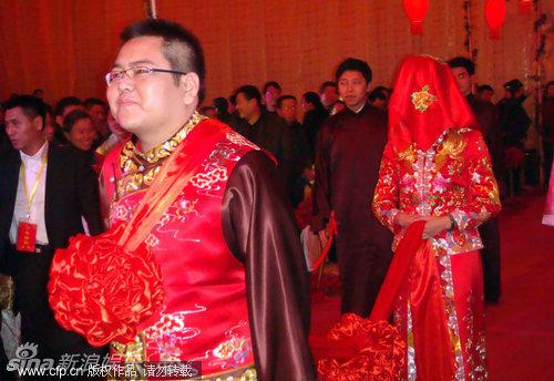 爱华集团_车晓婚礼现场充满中国传统味_新浪图集_新浪网