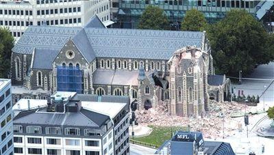 新西兰标志性建筑物_新西兰地震致65人死亡 市长开会时被甩倒在地_新闻中心_新浪网