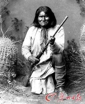 十九世纪美洲印第安部落酋长杰罗尼莫。