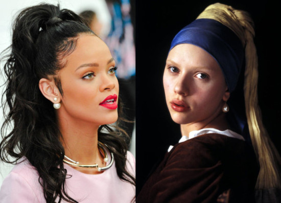 Young Fashion Actress Lei Hana Rihanna For Old Fashioned Pearl Earrings Eluted From Sri Lanka Jiabai Li Johnson Scarlettjohansson Interpretation Of The