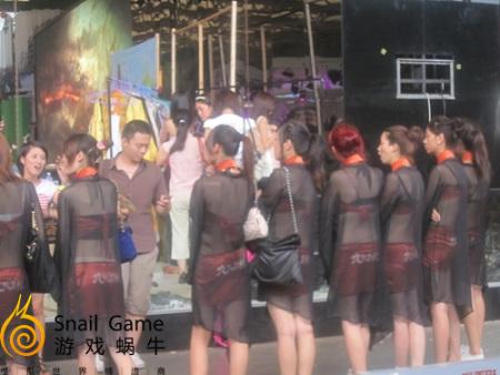 chinajoy組圖透視蝸牛展臺神秘搭建中圖片