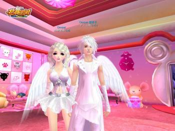童話般的白色王子公主情侶裝