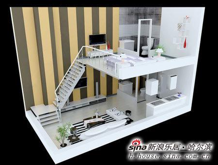 图为loft公寓效果图