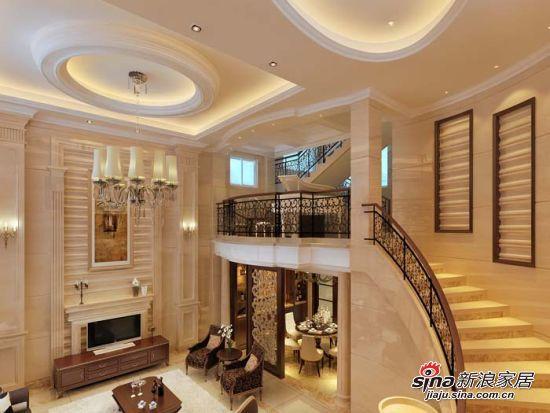 长方形客厅装修效果图; 福建泉州的凯德花园复式楼-别墅豪宅-熊锦辉