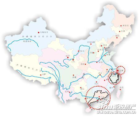 浙江省地图轮廓