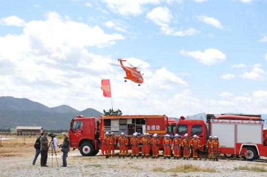 中航工�IAC313、AC311�尚兔裼弥鄙��C地震救援���鹧菥�精彩展�F