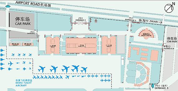 中国航展官网_图文:第七届中国珠海航展整体平面图_新浪航空航天_新浪网
