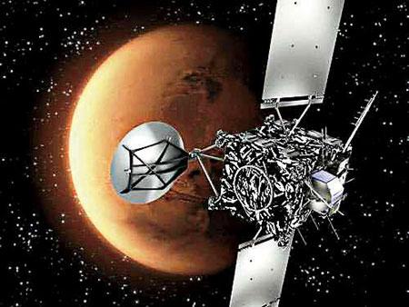 中国火星探测卫星想像图
