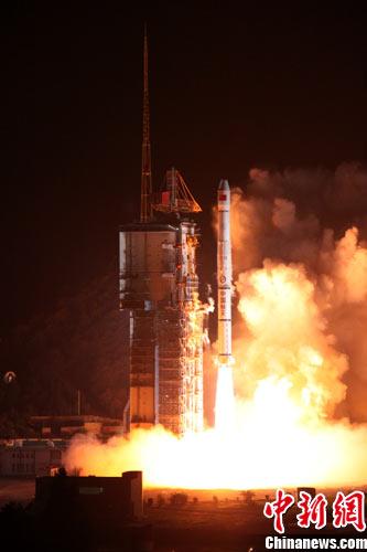 """""""长征三号甲""""运载火箭,将中星-20A通信广播卫星成功送入太空预定轨道"""