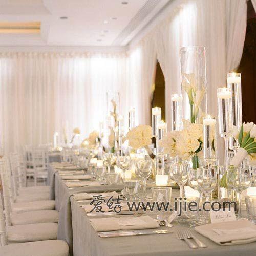 婚宴餐桌布置:蜡烛摆放方案_新浪女性_新浪网