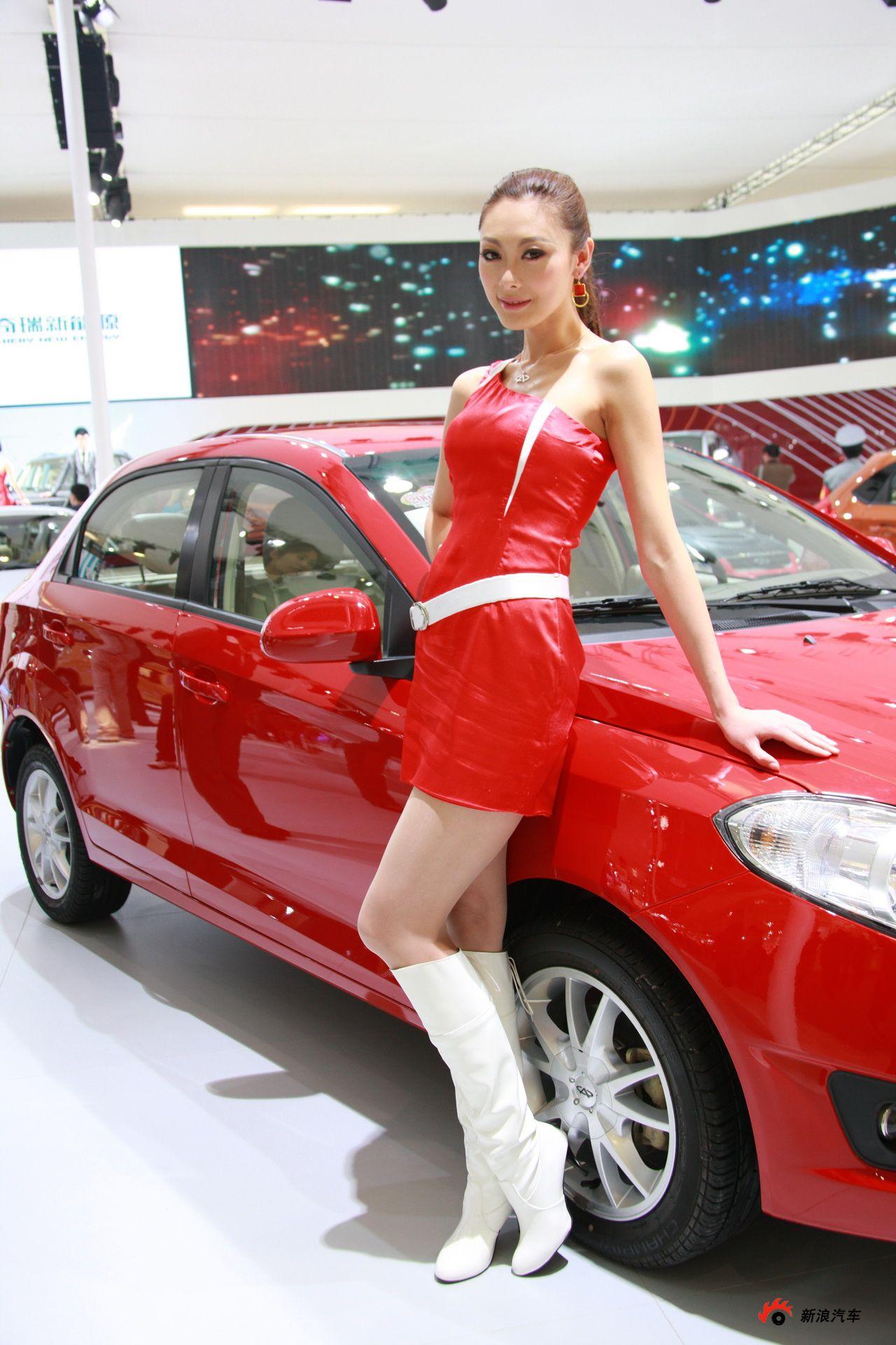 中国著名模特公司_奇瑞展台21号模特_图片_汽车图库_新浪汽车_新浪网